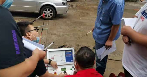 Field test of 0.1 Hz cable fault test system